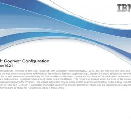 Cognos Configuration